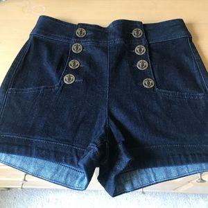 Denim High Waisted Shorts (NWT)